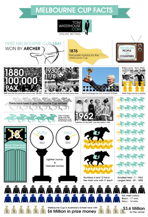 Melbourne Cup Facts Infographic