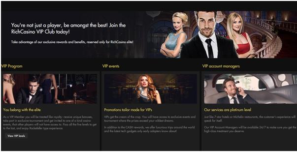 Rich Casino VIP Bonus