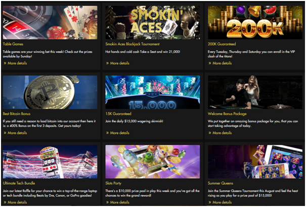 Rich Casino- Bonuses