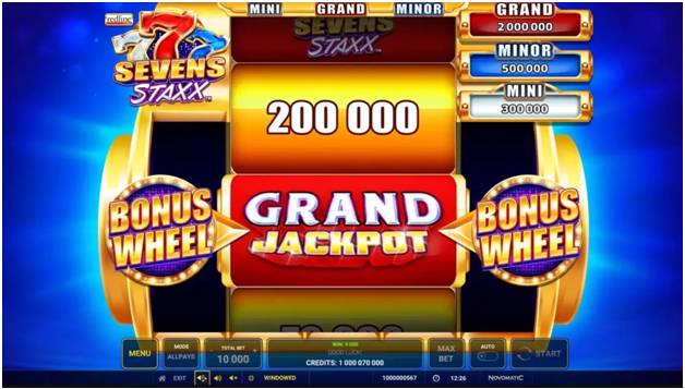 Sevens staxx pokies with game features